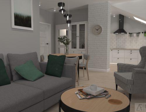 Mieszkanie na poddaszu 55m2